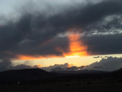 Arizona Sunset at da' crater by Q