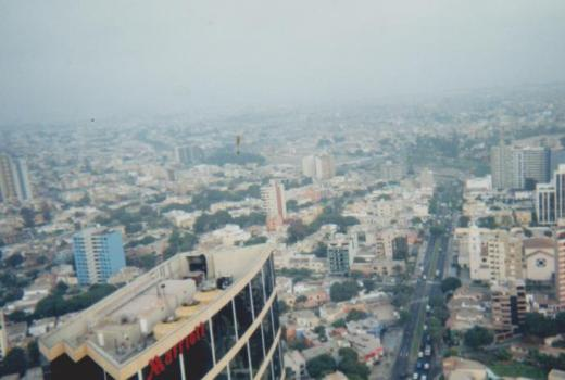 Paragliding over the Marriott in lima peru