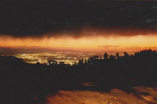 da' Los Angeles basin frum backside of snowsummitt big bear, ca.