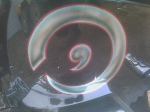 Quarks infinity Symbol on motorcycle