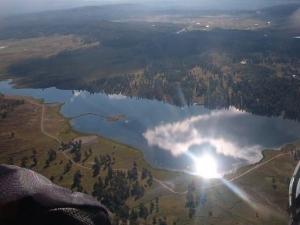 Afloat over echo lake @ 9am